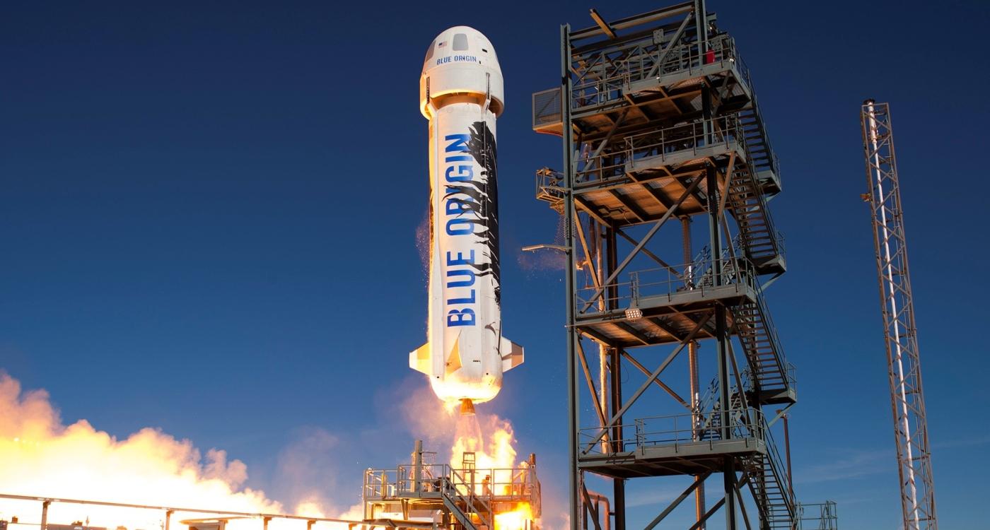 Así aterrizó el cohete de Amazon por segunda vez sobre la tierra