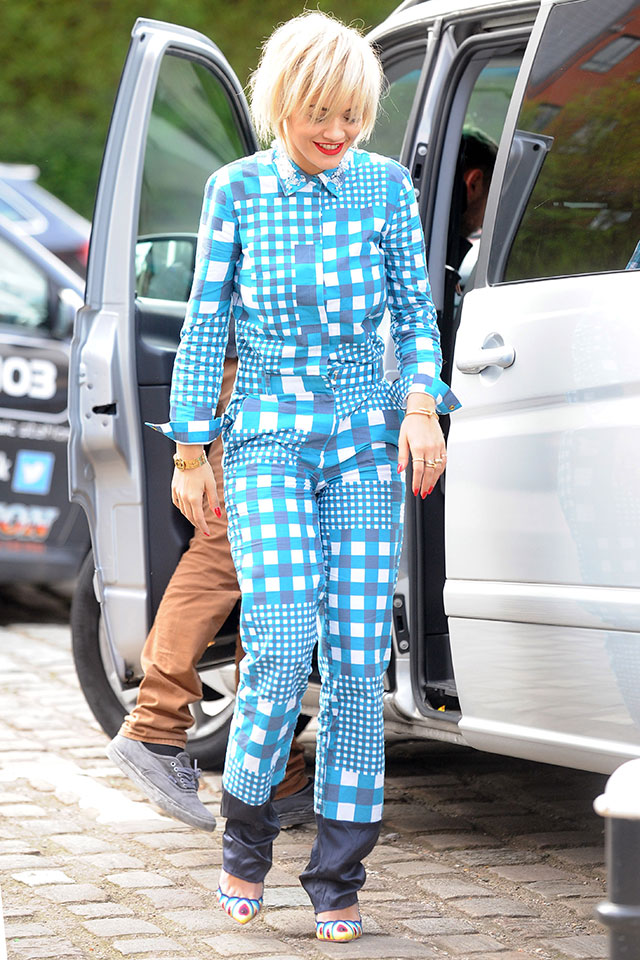 rita ora wears pyjamas in manchester