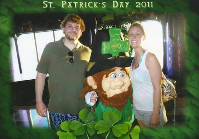 drunk st. patrick's day, drunk st. paddy's day photos, st. patrick's day debauchery