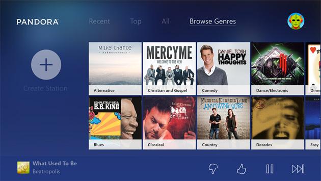 Your Xbox One now plays Pandora radio and Vevo music videos