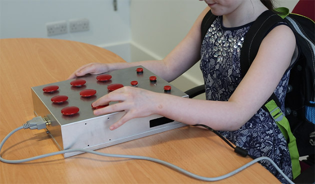 Smash-a-ball improves blind kids' memory and spatial awareness