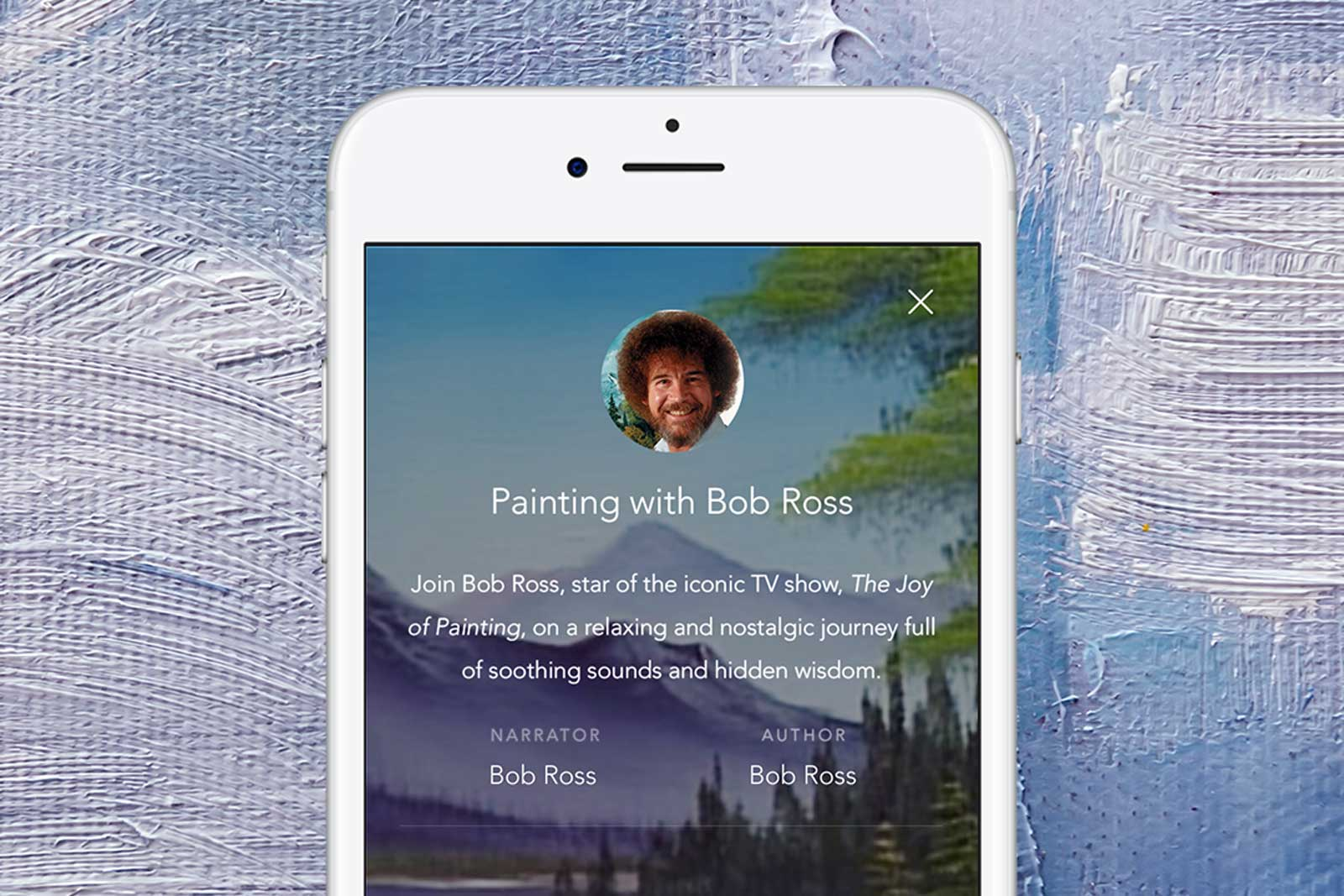 photo image Bob Ross can mellow you out through a mobile app