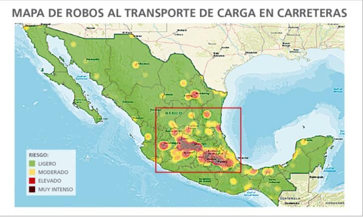 Aumenta robo de transporte de carga en México