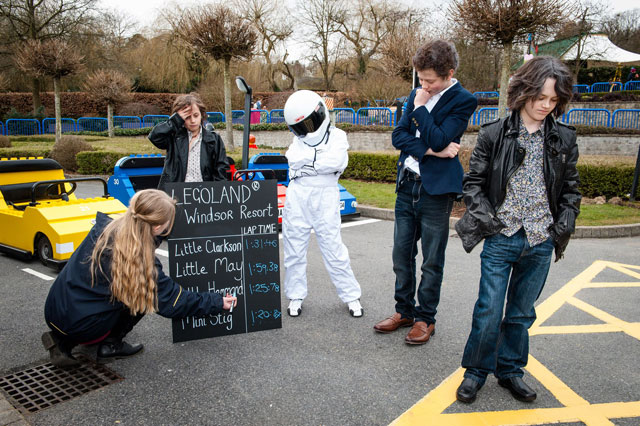 'Jeremy Clarkson', 'James May' and 'Richard Hammond' open Top Gear themed Driving School at Legoland