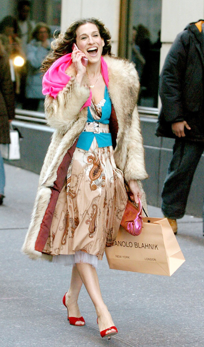 Carrie Bradshaw shopping
