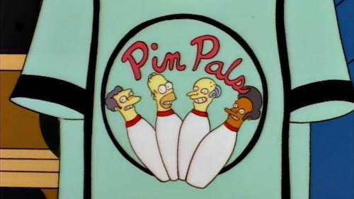 simpsons team homer, pin pals