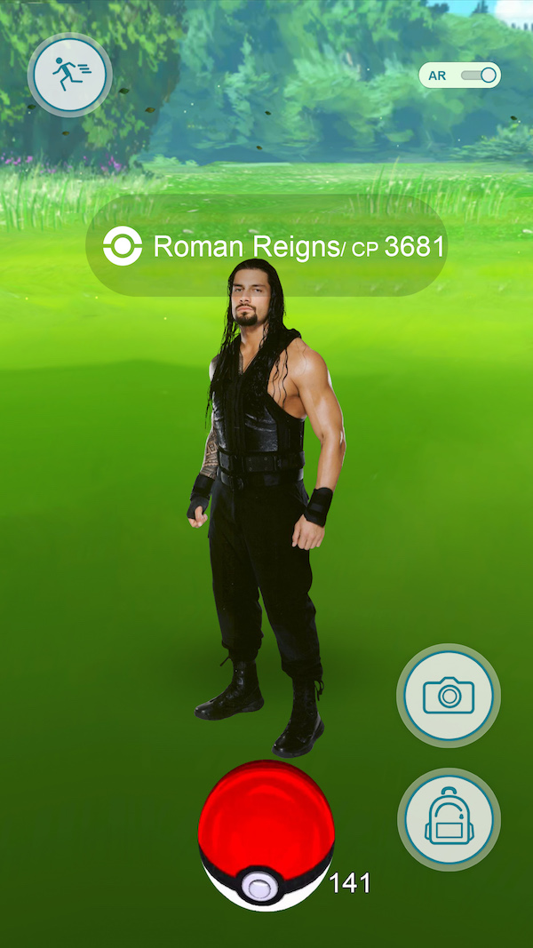 wwe pokemon go, roman reigns