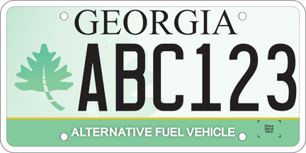 georgia alt fuel plate