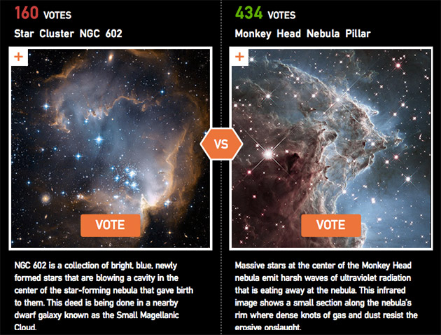 NASA wants you to vote for the most stunning image by Hubble