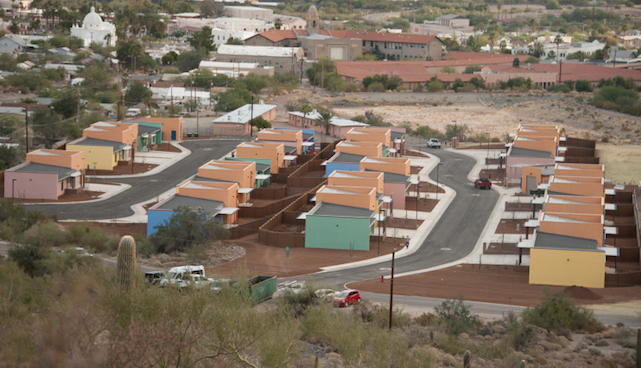 aerial view ajo housing for border agents