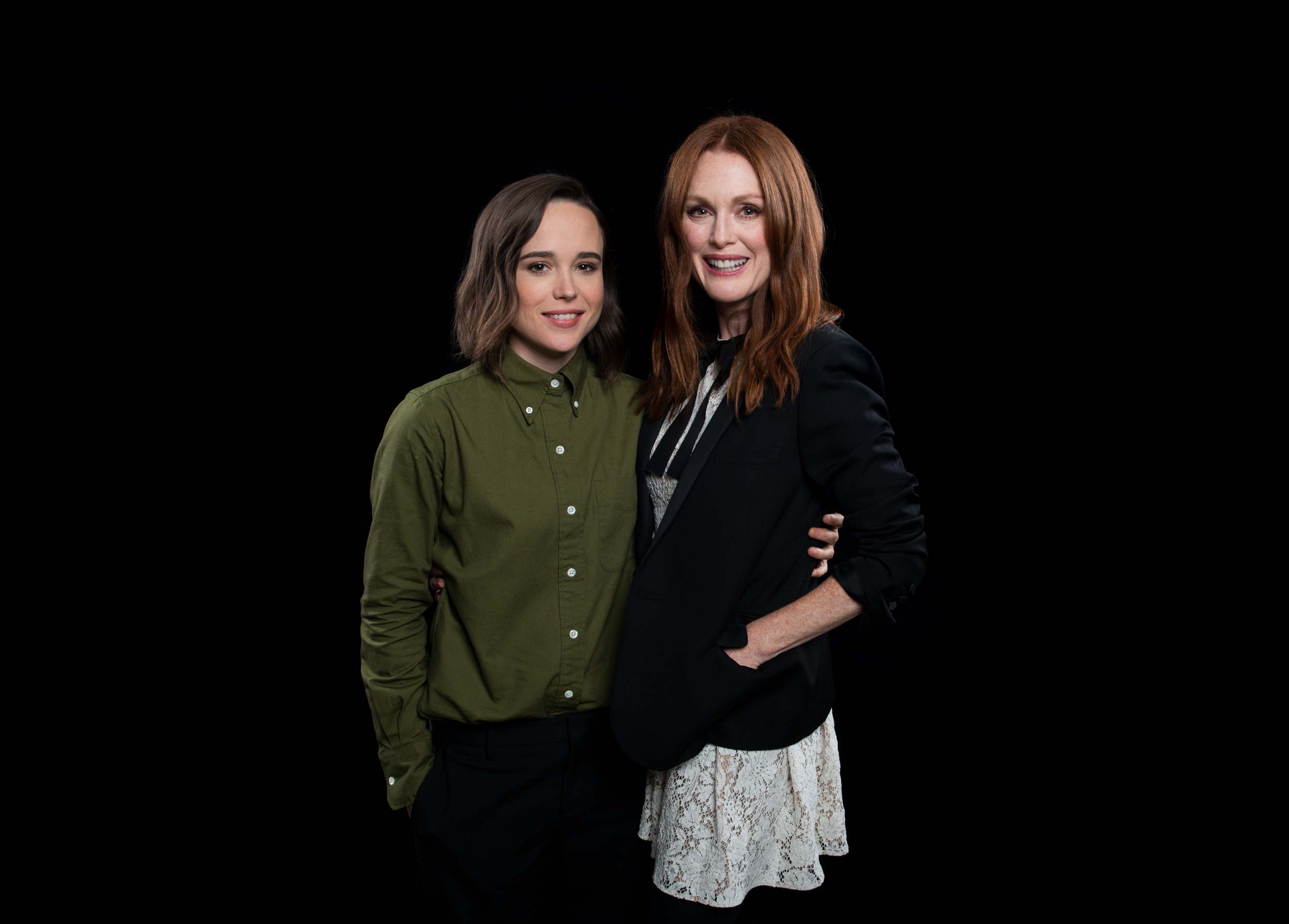 Julianne Moore, Ellen Page and Peter Sollett visit AOL Hq for Build on September 28, 2015 in New York. Photos by Noam Galai