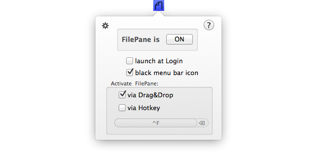 FilePane Menu Bar
