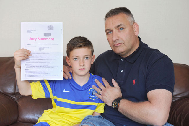 Schoolboy, 10, called for JURY service
