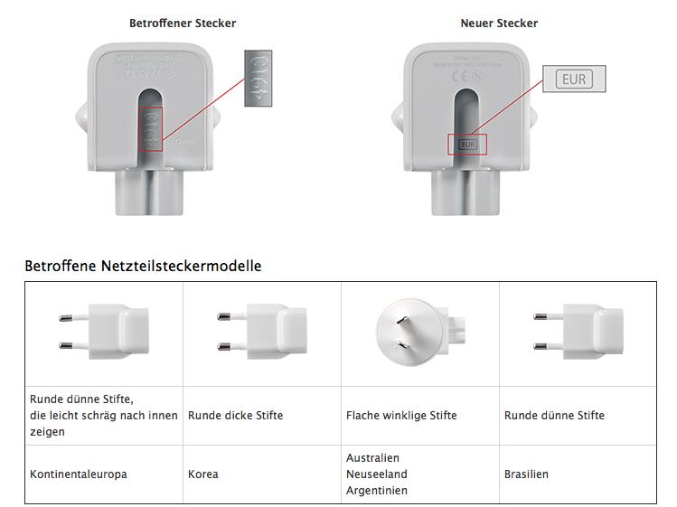 Große Rückrufaktion: Apple tauscht Netzteil-Adapter
