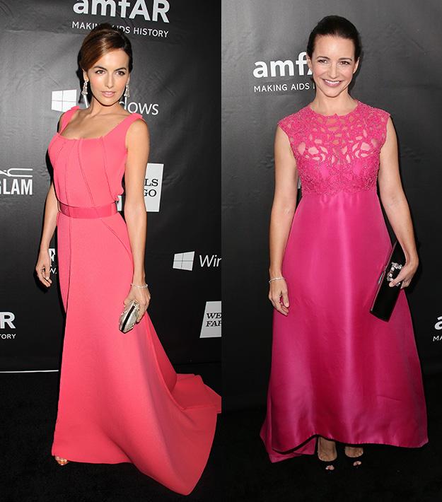 Camilla Belle, Kristin Davis shine in pink at amFAR Inspiration Gala LA