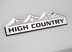 Chevy High Country badge