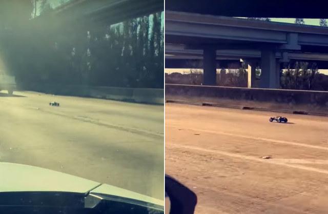 StVO-Alb: RC-Spielzeugauto düst mit 130 km/h über den Freeway