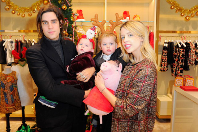 Peaches Geldof with her children