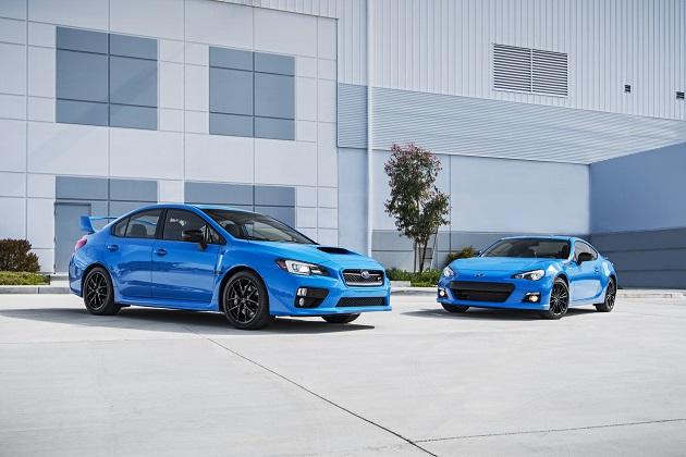 スバル、北米仕様の「BRZ」と「WRX STI」に「ハイパーブルー」の限定車を設定