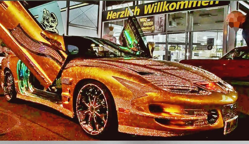 Tuner, Tuning, Echtgolf, Gold look, Pontiac Trans Am, Blattgold,