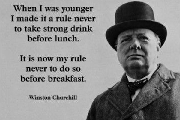 most successful drunks in history, winston churchill