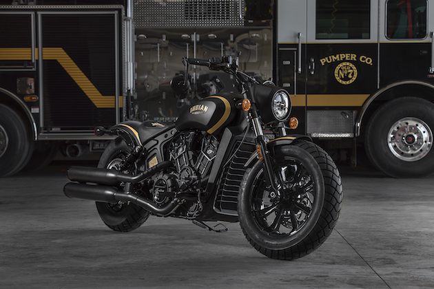 インディアン・モーターサイクルが、ジャックダニエル仕様の「スカウト」限定モデルを公開!