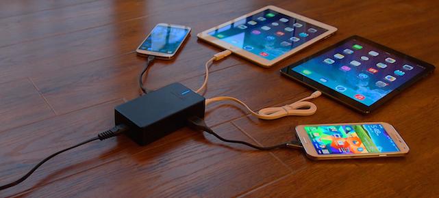 Skiva Technologies Smart-Quad 4-port travel charger