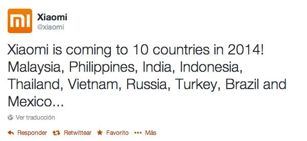 Xiaomi llegará finalmente a México este año