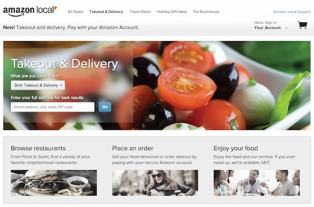 Amazon Local Takeout and Delivery
