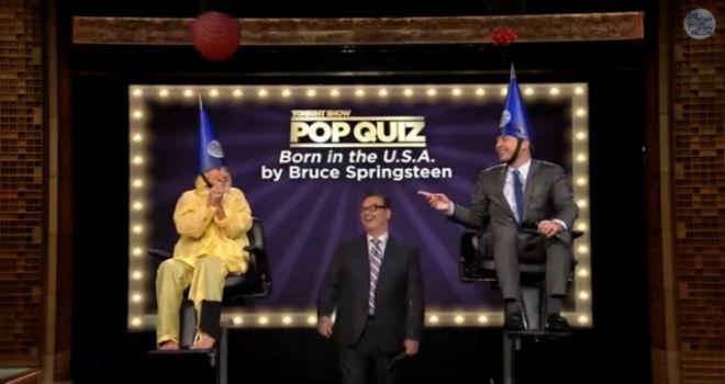 Jimmy Fallon, Kelly Ripa, Pop Quiz, Tonight Show