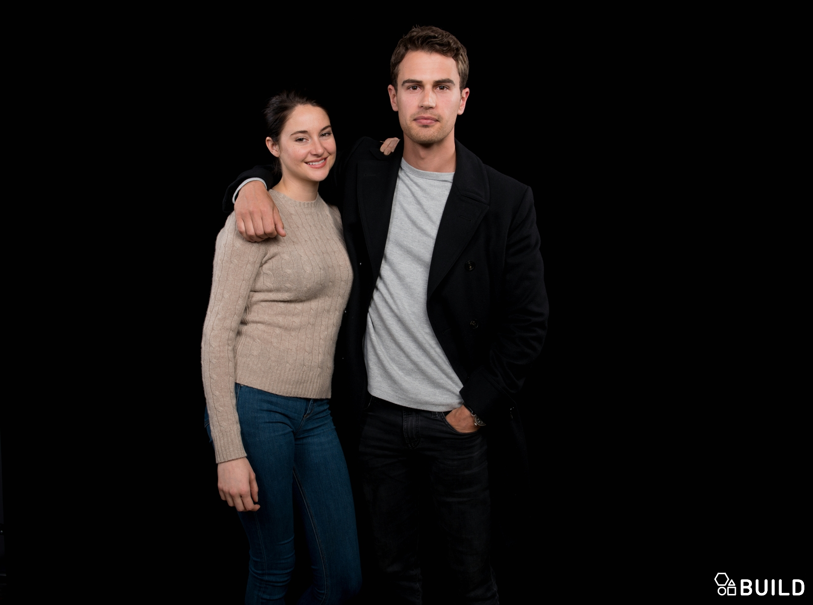 Shailene Woodley and Theo James visits AOL Hq for Build on March 14, 2016 in New York. Photos by Noam Galai