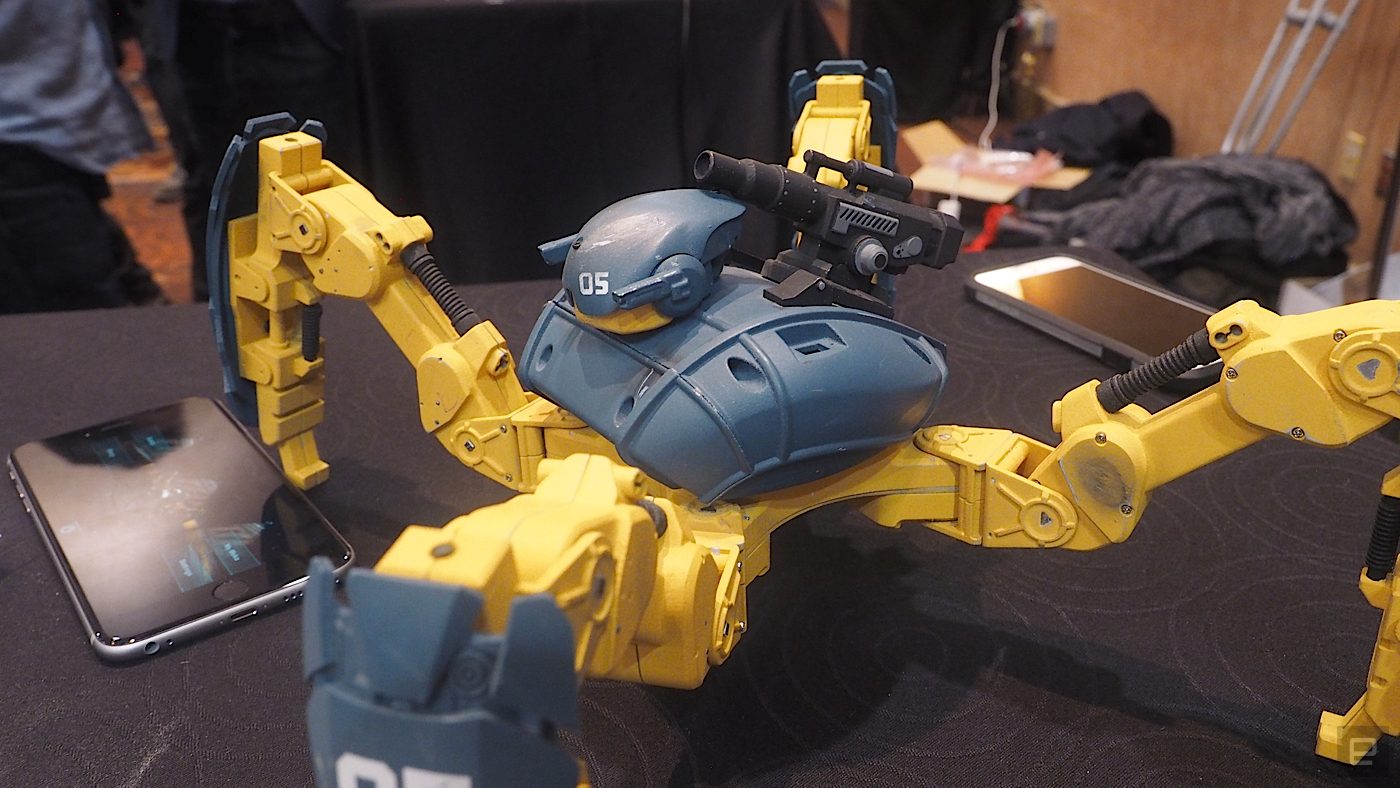 Mekamon is a battle bot with an augmented reality twist