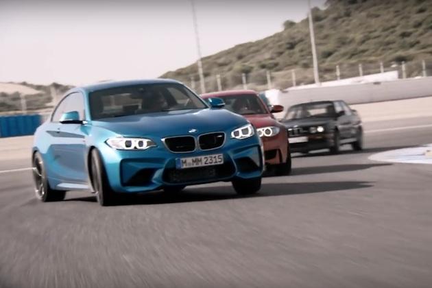 【ビデオ】BMWの新型「M2」が、偉大な先祖達とサーキットで競演!