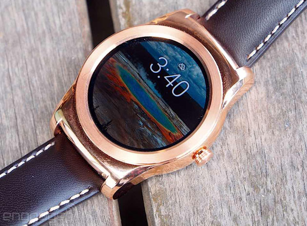 LG Watch Urbane in gold