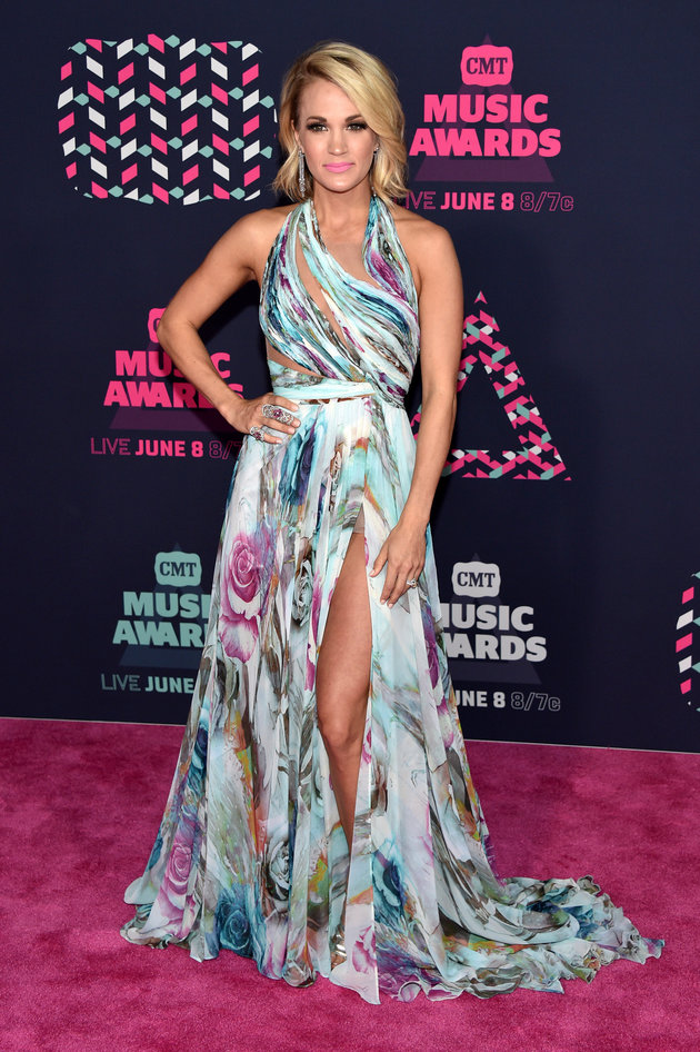 NASHVILLE, TN - JUNE 08:  Carrie Underwood attends the 2016 CMT Music awards at the Bridgestone Arena on June 8, 2016 in Nashville, Tennessee.  (Photo by John Shearer/WireImage)