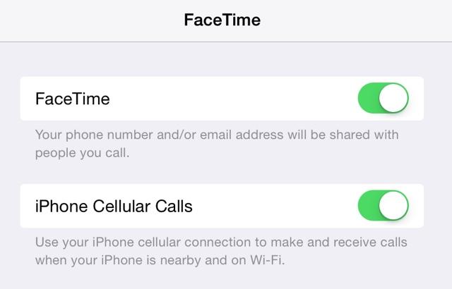 facetime settings iphone ipad