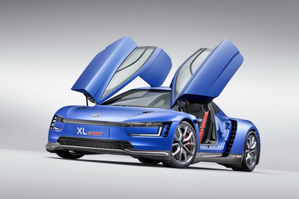 VW XL sport, Concept, Volkswagen xl sport, xl sport, Hybrid, sportwagen, Auto salon Paris, Pariser Auto salon, Ducati, Ducati Superleggera