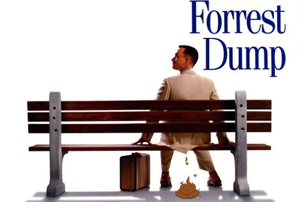 funny porn titles, funny porn titles that should definitely exist, forrest dump on my chest, forrest gump