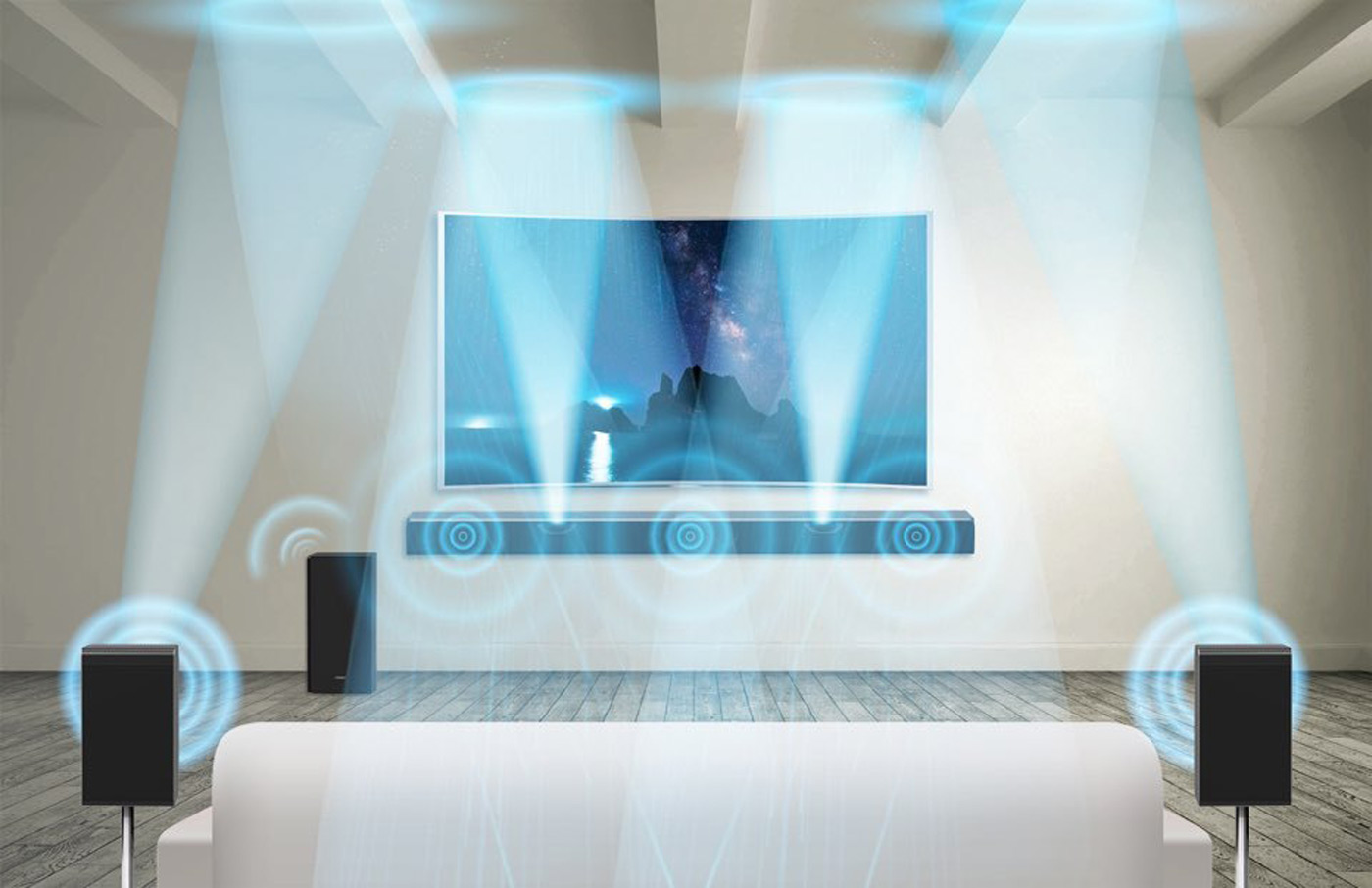 Samsung soundbar gives you Dolby Atmos out of the box