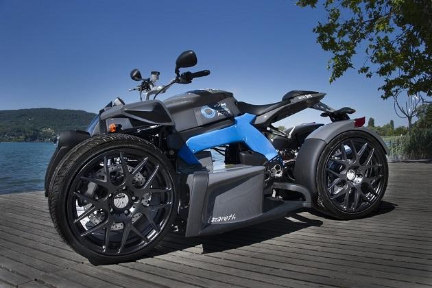 最大トルクは490Nm! ラザレス社の電動4輪バイク「イーワズマ(E-Wazuma)」
