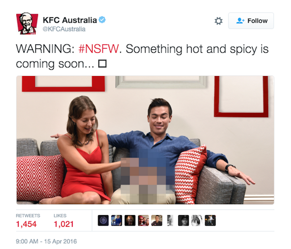 KFC Tried A Dick Joke On Twitter And It Completely Backfired