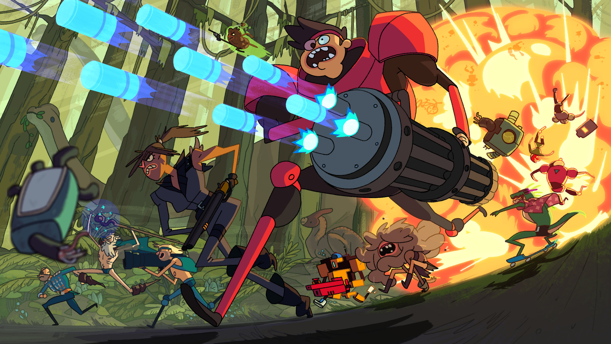 Playdate: Trying out 'Super Time Force Ultra' and 'Grow Home'