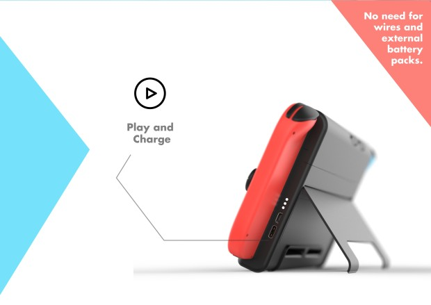 Esta carcasa para Switch ofrece hasta 14 horas de batería