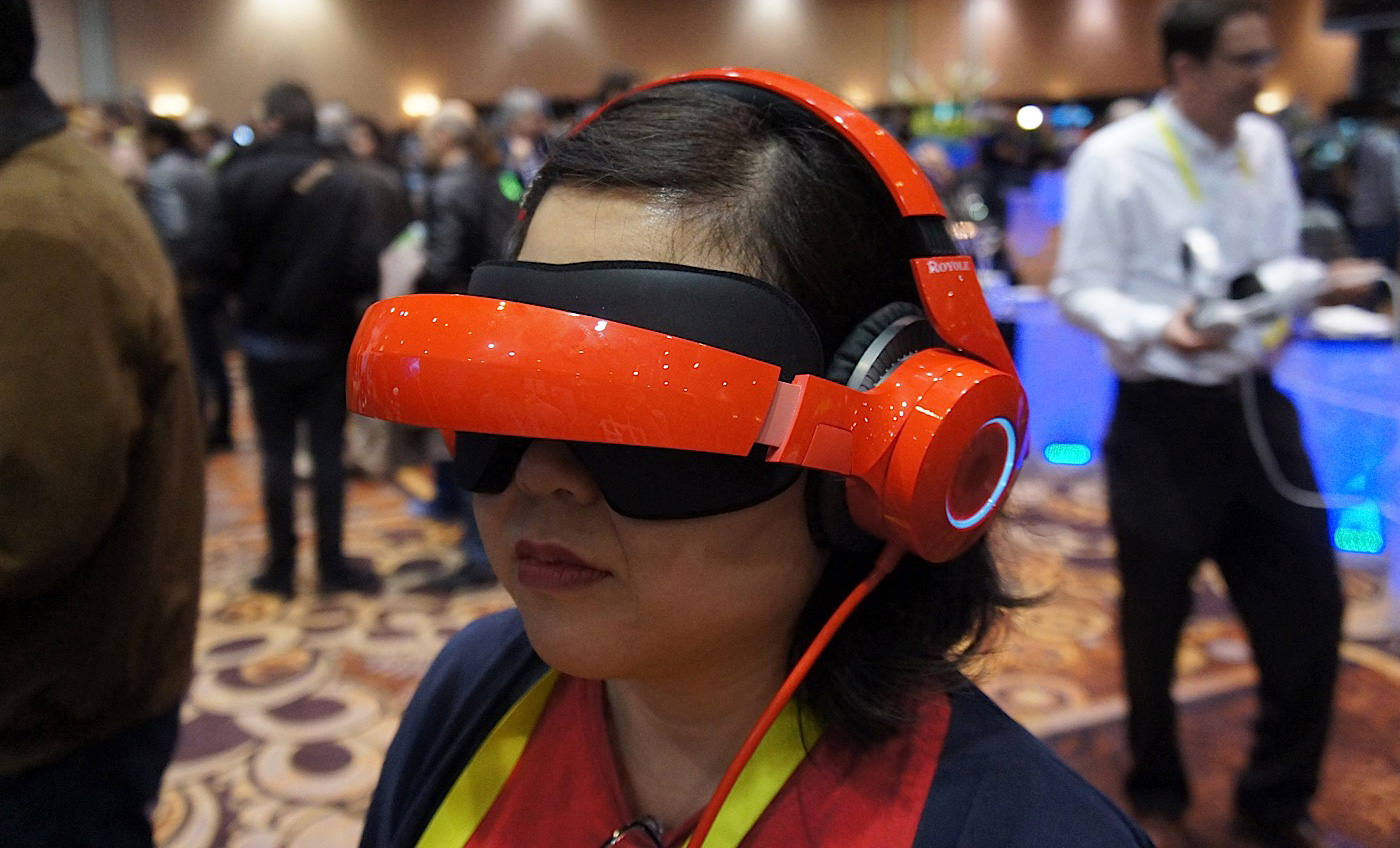 The Royole-X is a foldable headset for movies on-the-go