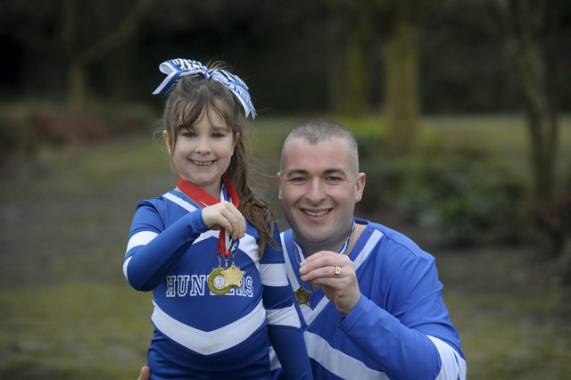 Overweight dad darren Peacock joins his daughter Amy's cheerleading squad - and loses three stone