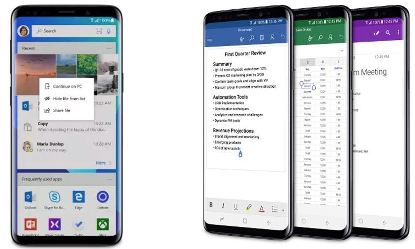 Galaxy S9 Microsoft Edition mit Excel & Co. an Bord