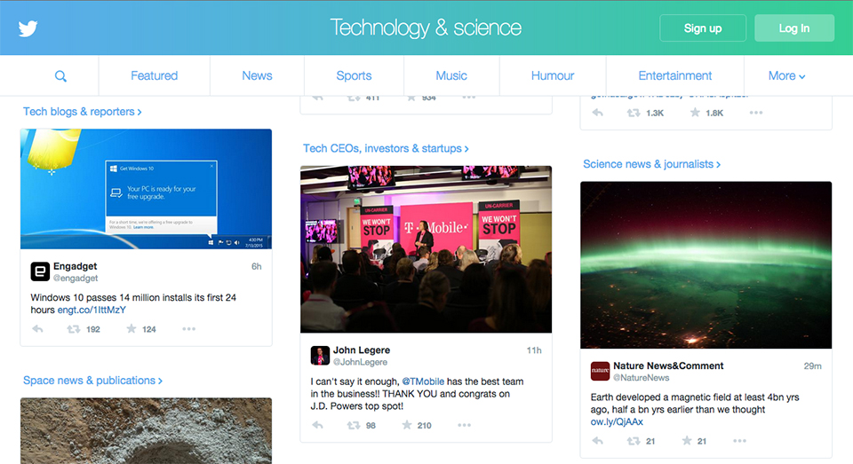 Twitter's new homepage is designed to lure in new users