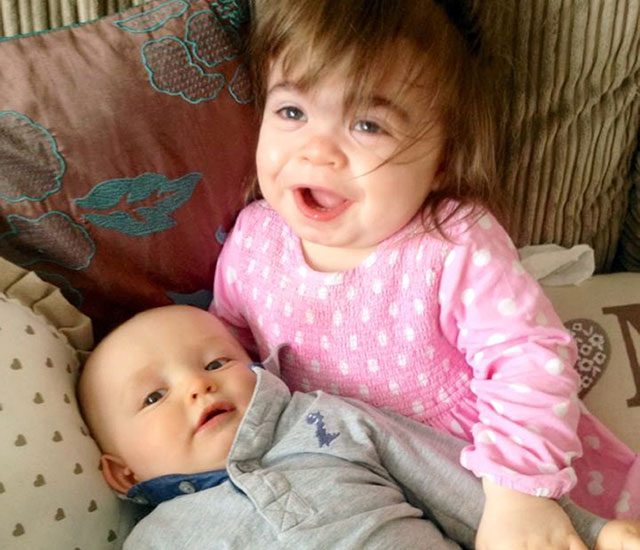 Baby to donate bone marrow to save big sister's life