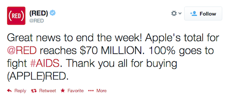 Apple's passes $70 million in contributions to (RED) and other stories from April 4, 2014