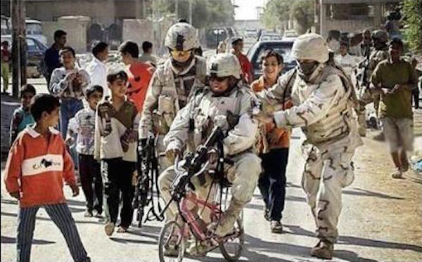 manliest photos on the internet, funny manly images, soldier riding pink bicycle